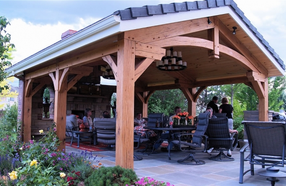 Outdoor Living Spaces from Brewster Timber Frames, Colorado