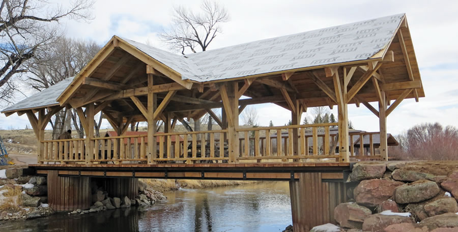 Cover for a bridge in wyoming for Timber frame bridge