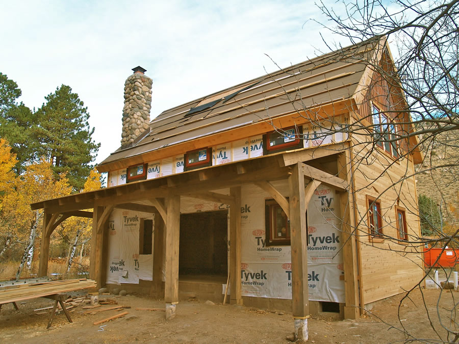 Brewster timber frame colorado custom timber frame builder for How to build a timber frame house
