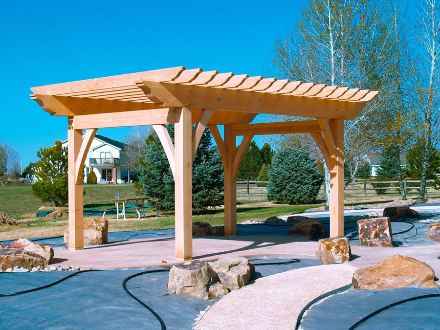 Hargis - Timber Frame Pergola